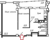 2-к.квартира в новом доме по ул.М.Залка, Юго-Западный район. - Фото 2