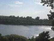 Живописный лесной земельный участок на 1-ой линии реки Ока, д. Лужки - Фото 1