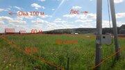Участок со всеми коммуникациями 30 соток на берегу Оки - Фото 1