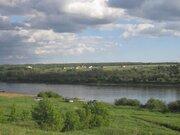 Живописный земельный участок на берегу реки Ока в д. Лужки - Фото 1