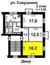 Продам комнату 18.2м в 3-комн. квартире, 1 сосед, сталинка - Фото 4