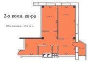 2-х комнатная квартира 69,0 кв.м, 8 эт, г. Озеры Микрорайон 1а д. 5 . - Фото 4