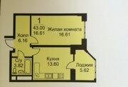 Продается 1-комнатная квартира г.Раменское, ул. Крымская д. 12 - Фото 1
