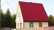 Новый бревенчатый дачный дом с баней на участке 8 соток продается в . - Фото 1