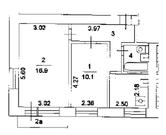 Продается 2-ух комнатная квартира в кирпичном доме - Фото 1