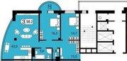 3к в новом сданном доме на ярыгинской набережной 19