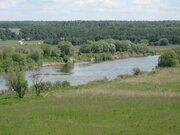 Участок с панорамным видом на реку Оку