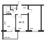 Продажа 2-комнатной квартиры, 46.15 м2, Понтонная ул. - Фото 2