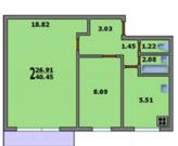 2-комнатная квартира недалеко от м. Царицыно - 10 мин. - Фото 3