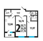 4 862 000 Руб., 2 комн. квартира с отделкой в Новой Москве,14 км, ипотека, рассрочка, Купить квартиру в новостройке от застройщика в Москве, ID объекта - 316790933 - Фото 1