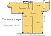 2-х комнатная квартира 65,5 кв.м, 6 эт, г. Озеры Микрорайон 1а д. 5 . - Фото 3