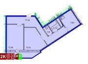 Продажа двухкомнатная квартира 68.53м2 в ЖК Рощинский дом 7.2. секция . - Фото 1