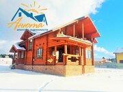 Бревенчатый дом на границе Новой Москвы в поселке Лазурный берег. - Фото 4