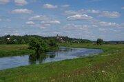 Участок 25 сот. д. Никифоровское, 60 км, рядом лес, река, асфальт. - Фото 1
