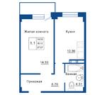 Квартира 37 м2 в комфорт-классе ЖК Родные Берега