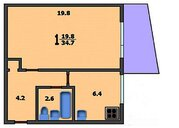 Преображенская площадь 1 комнатная - Фото 2