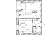 Продам 1-комнатную квартиру, 44,5м2, ЖК Прованс, фрунзенский р-н - Фото 2