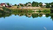 Хороший участок с газом на берегу пруда - Фото 1