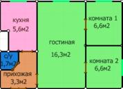 Продается 3 к.кв. Ростов-на-Дону, Пролетарский р-н. - Фото 1