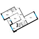 3комн.квартира с отделкой в Новой Москве, 15 км от м. Теплый Стан