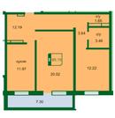2 комнатная квартира ул. Бабарынка, р-н Дом Обороны - Фото 2