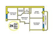 Продается 2-х комнатная квартира c индивидуальным отоплением. Центр - Фото 1