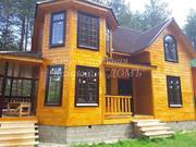 Новый загородный дом на лесном участке, граничит с лесом. - Фото 1