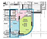 Продам 1 комнатную квартиру, 44,72 м кв , г. Домодедово, ул. Каширское