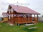 Бревенчатый дом 70 м2 на большом участке в д. Михайловское - Фото 1