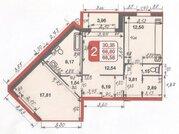 Продается просторная 2-х комнатная квартира в ЖК Новые Островцы 13 мин - Фото 3