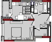 Однокомнатная квартира в Жилом комлексе - Фото 4