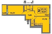3 155 110 Руб., Двухкомнатная квартира от Застройщика, Купить квартиру в новостройке от застройщика в Калининграде, ID объекта - 322802818 - Фото 2