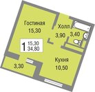 Квартира в новом жилом комплексе комфорт-класса Новоград Павлино. - Фото 1