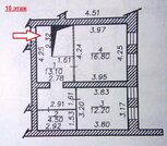 3-ком.квартира в центре, на Гладкова, индивидуальное отопление. - Фото 3