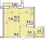 1-комн квартира, фмр, 37,9 м2 - Фото 2