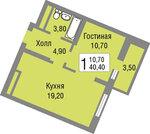 Квартира в готовом корпусе в ЖК Новоград Павлино - Фото 5