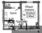 Продаю1комнатнуюквартиру, Нижний Новгород, м. Буревестник, проспект .