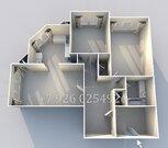 3-к квартира с ремонтом в новом доме, 3 мин до ст.м. Алма-Атинская - Фото 1