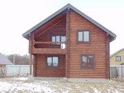Дубна с, СНТ Ромашкино, дом 130 кв м. из оцилиндрованного бревна. - Фото 1