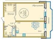 Однокомнатная квартира 60 м2 в ЖК Оскар (40 лет победы) - Фото 1