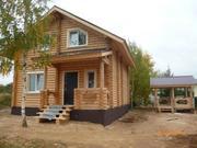 Дом 130 м2, Бревно, Беседка, 90 км по Киевскому ш. - Фото 1