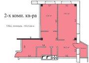 2-х комнатная квартира 64,6 кв.м, 2 эт, г. Озеры Микрорайон 1а д. 5 . - Фото 3