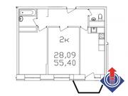 """2-х комнатная квартира 55,4 кв.м. в ЖК """"Весна"""" г.Апрелевка - Фото 2"""
