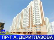 Новая 1 ком. квартира в Курске, проспект a. Дериглазова, д. 43