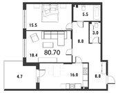Продажа 2-комнатной квартиры, 81.3 м2, Петергофское ш, д. 43 - Фото 2