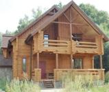Деревянный 2-этажный особняк 370 м2 на берегу лесного озера, Калужское