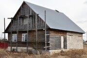 Незавершенный строительством дом в д.Аленино, участок 28 соток. - Фото 1