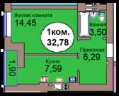 Однокомнатная квартира в тихом спальном районе, Купить квартиру в новостройке от застройщика в Калининграде, ID объекта - 323403254 - Фото 2