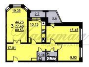 Трехкомнатная квартира, ул. Комсомольская, д. 10 - Фото 3