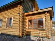 Двухэтажный дом из оцилиндрованного бревна 6х6 метров с пристроенной в - Фото 1